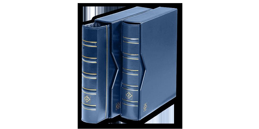 Mincovní album OPTIMA s pouzdrem - modré