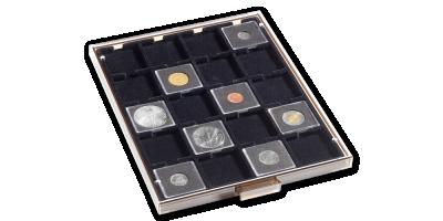 Mincovní kazeta MB v kouřové barvě s černým platem