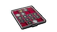 Mincovní kazeta MB v kouřové barvě s červeným platem