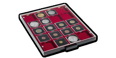 Mincovní kazeta MB v kouřové barvě sčerveným platem
