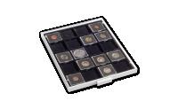 Mincovní kazeta MB ve světle šedé barvě s černým platem