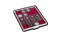 Mincovní kazeta MB ve světle šedé barvě s červeným platem