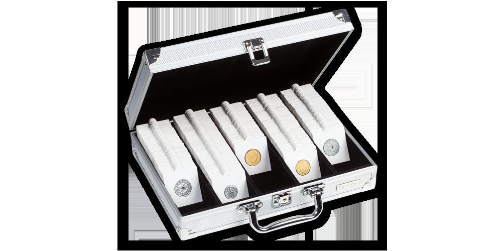 Mincovní kufr na 650 mincovních rámečků MATRIX