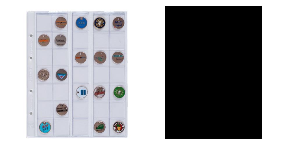 Mincovní obal Optima pro 35 mincí do Ø 27 mm
