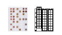 Mincovní obal Optima pro 54 mincí do Ø 20 mm
