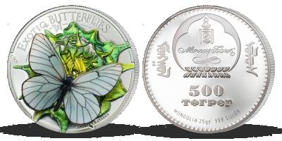 Stříbrná mince - Motýl 3D, 2017