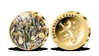 Pamětní medaile Kosatce Alfonse Muchy v úctyhodné velikosti