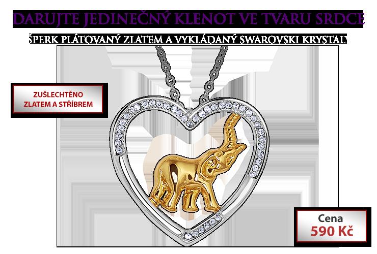 Náhrdelník Srdce se slonem