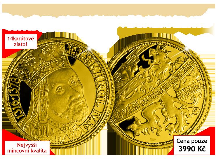 Císař Karel IV. ve věčném zlatě - nejcennější emise Vaší sbírky Život Karla IV.