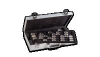 Numismatický kufr na 190 mincí, stříbrný