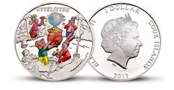 Pamětní mince Čtyřlístek zušlechtěná ryzím stříbrem (999/1000)