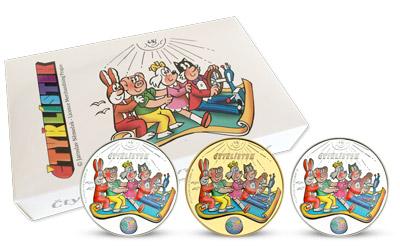 Sada 3 mincí Čtyřlístek