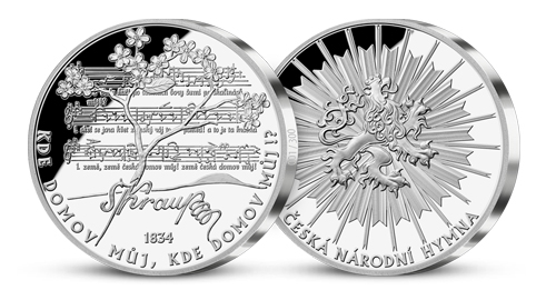 Česká národní hymna - stříbrná 5 oz medaile