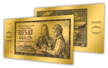 Získejte motiv legendární bankovky v čistém zlatě