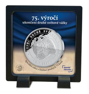 Exkluzivní stříbrná medaile k 75. výročí ukončení druhé světové války