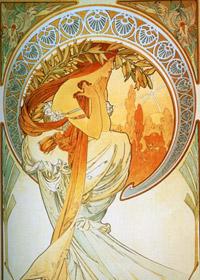 Plakát Alfon Mucha - Poezie