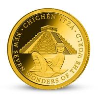 Zlatá mince Chichém Itzá