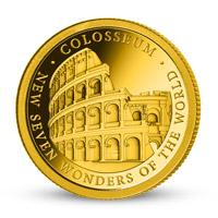 Zlatá mince Římské koloseum
