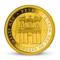 Zlatá mince Skalní město Petra