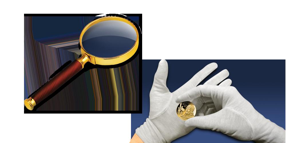 numizmaticke-rukavice-a-lupa