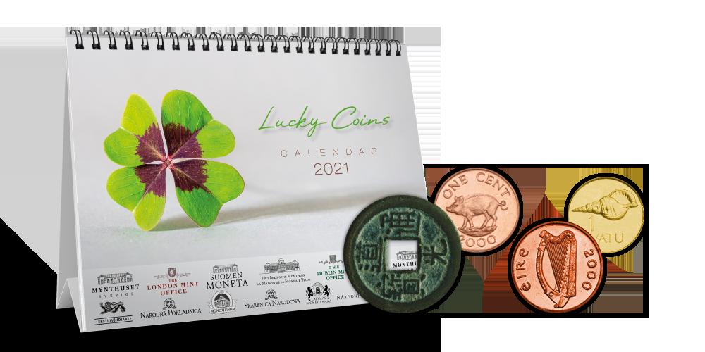 Numismatický stolní kalendář