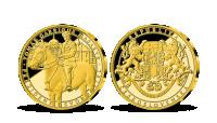 Pamětní medaile T.G.Masaryk na medaili z ryzího zlata