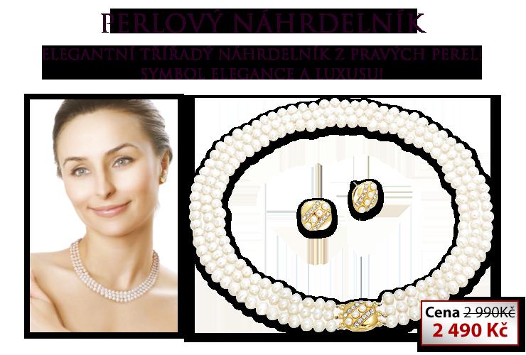 Perlový náhrdelník inspirován Lady Di