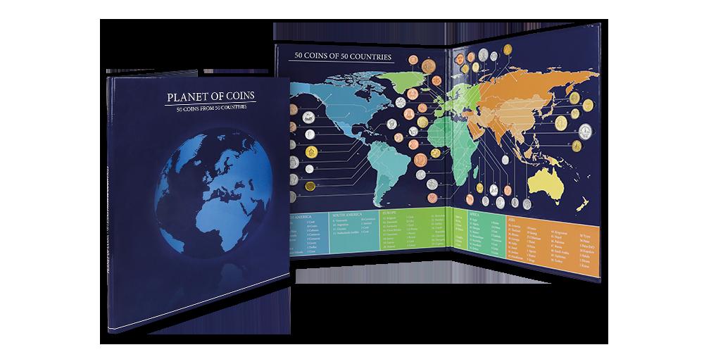 Planeta mincí - album plné numismatů ze všech kontinentů