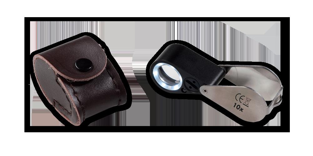Precizní lupa s LED osvětlením a UV lampou