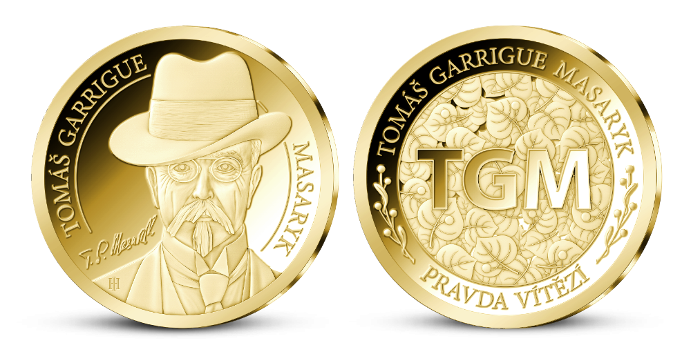 T. G. Masaryk na zlaté medaili