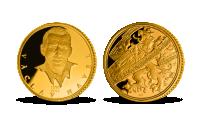 Václav Havel na medaili ze 14karátového zlata