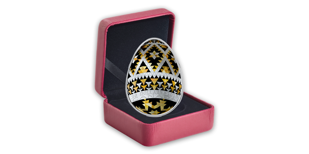 Velikonoční kraslice Pysanka v ryzím stříbře