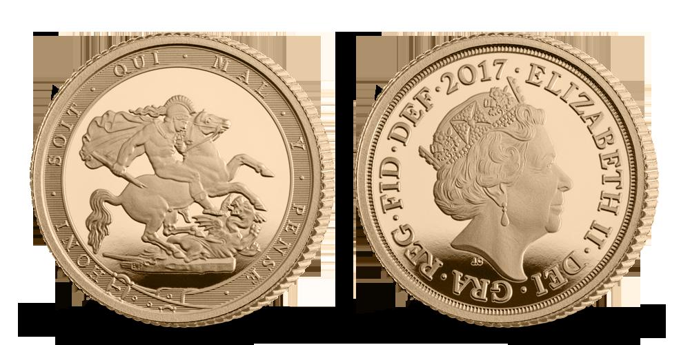 Quarter Sovereign 2017 - Unitátní zlatá mince z 22karátového zlata