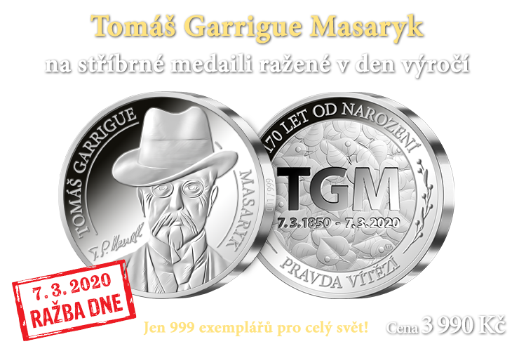 Ražba dne - 170. výročí  narození T. G. Masaryka