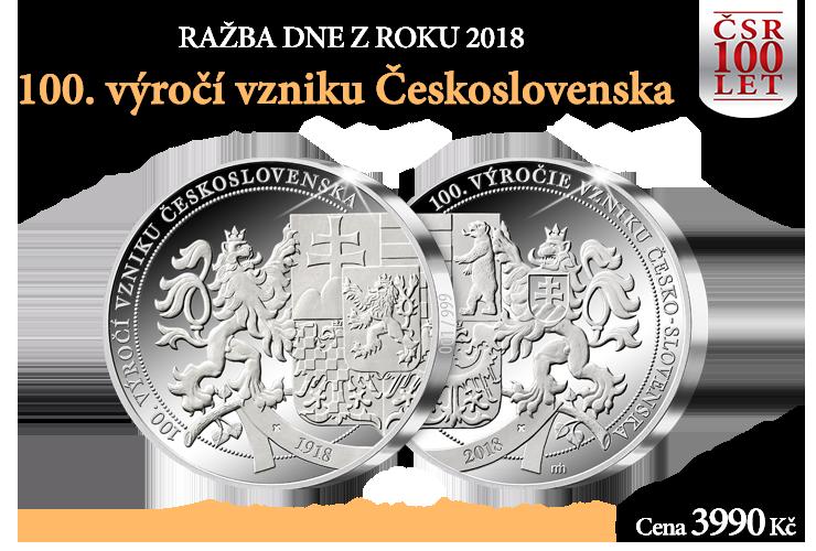 Ražba dne - 100. výročí vzniku Československa