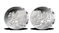 Stříbrná výroční medaile vyražená v den 100. výročí vzniku Československa