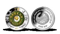Mince z 2 uncí stříbra s pravým nefritem