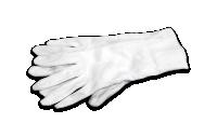 Rukavice v bílé barvě