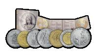 Panna Marie v mincovní sadě z minulého tisíciletí
