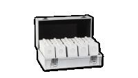 Sada bílých mincovních rámečků MATRIX, 1000 ks   kufr ZDARMA