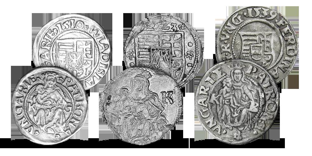 Sada 3 historických Denárů Čeští králové