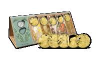 Alfons Mucha - sada pamětních medailí zušlechtěných ryzím zlatem