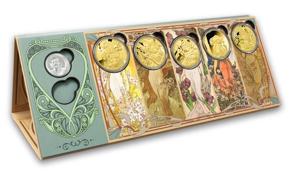 Numismatický zakladač pro kolekci medailí Alfons Mucha