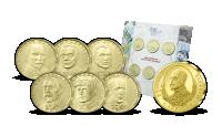 Sada oběžných 20 Kč mincí ČNB a Pamětní medaile T. G. Masaryk