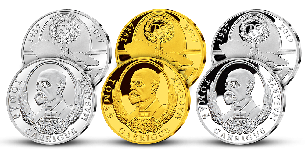 Set tří pamětních medailí T. G. Masaryk