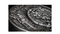 Štít bohyně Ahtény na stříbrné minci