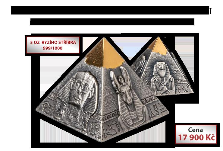 Pyramida Khafre na limitované 3D minci