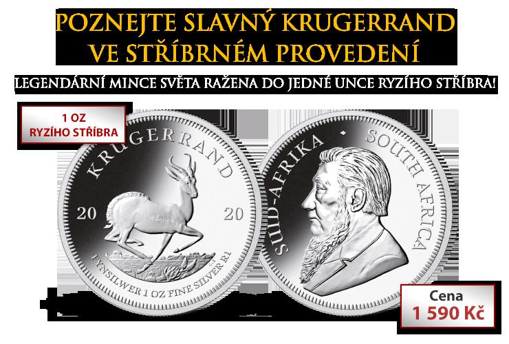 Poznejte slavný Krugerrand ve stříbrném provedení
