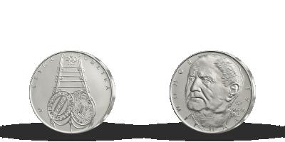 Stříbrná mince Bohumil Hrabal - 100. výročí narození
