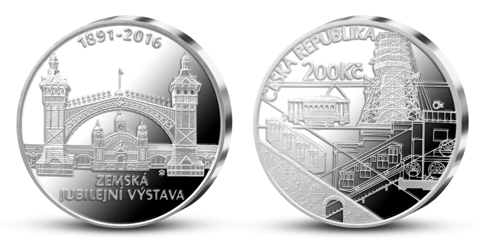 Stříbrná mince ČNB - 125. výročí Zemské jubilejní výstavy